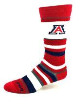 Arizona Wildcats For Bare Feet Women's Soft Stripe Crew Length Socks