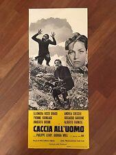 LOCANDINA,s/8  CACCIA ALL'UOMO RICCARDO FREDA 1961,ROSSI DRAGO CHECCHI ORSINI