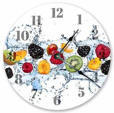 "10.5"" FRUIT WATER SPLASH CLOCK - Large 10.5"" Wall Clock Home Décor Clock - 3179"