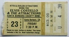Elvis Costello Original Used Concert Ticket Santa Barbara County Bowl 1982