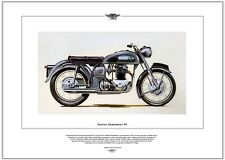 NORTON DOMINATOR 99 - Moto Stampa Fine Art - 600cc Doppio wideline featherbed
