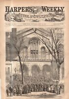 1869 Harpers Weekly May 15 - SOROSIS; Halsted Observatory; Cuba, Porto Rico