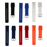 Stainless Steel Buckle Waterproof Silicone Straight End Band Spring Bar 18/22mm