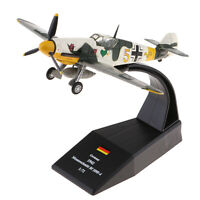 1/72 Diecast Airplane Aircraft Model Toy Alloy Bf-109 / Me-109 Piston Plane Gift