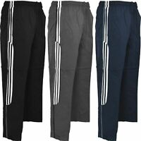 New Mens Striped Joggers  Jog Jogging Tracksuit Bottoms Trousers Pants 3 Stripes
