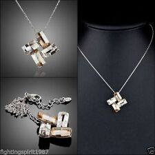 Weißgold beschichtete Swarovski Modeschmuck-Halsketten & -Anhänger aus Kristall