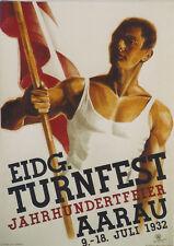 Original Plakat - Eidg. Turnfest Aarau