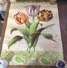 "John Derian Paper Tulips 1999 unframed lithograph Tulips 18"" x 24"" original tube"