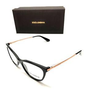 Dolce & Gabbana DG 3258 501 Black Women Authentic Eyeglasses Frame 52-17