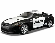 Maisto 1:24 2009 NISSAN SKYLINE GTR GT-R R35 Diecast Model Racing Police Car
