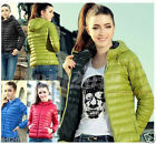 Fashion Women Thin Slim Down Coat Warm Jacket Winter Overcoat Parka Candy Color