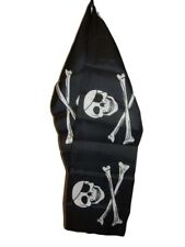 "Pirate Eye Patch Skull Lightweight Flag Printed Knitted Style Scarf 8""x60"""