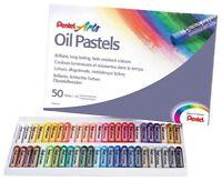 Pentel Oil Pastel Set Artists Fade Resistant Colour Oil Pastels (50 Piece Set)