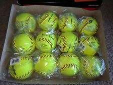 "(12) Rawlings 11"" Little League 6oz Pro Leather Softballs Model Px11Rylll"