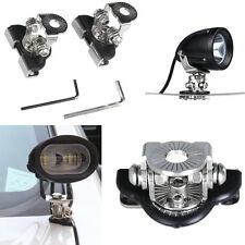 2x Car Stainless Steel Off-Road A Pillar Hood Lights Mount Bracket Clamp Holders
