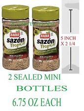 Badia Sazon Tropical Seasoning 2 MINI BOTTLES (6.75 OZ EACH) FRESH