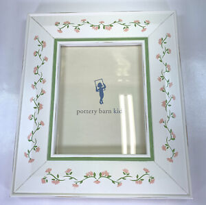 Pottery Barn Kids Ashby Flower Vine Wood Photo Picture Frame 8.5 x 11 Inches