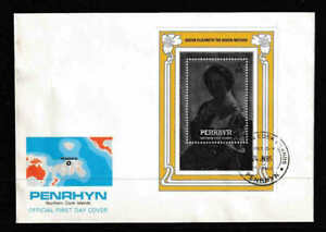 Penrhyn 1985 The 85th Anniversary Of Birth Of The Queen Mother S/S FDC - Mint