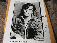 STEVE EARLE VINTAGE EARLY SIGNED AUTOGRAPH PHOTO