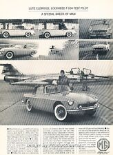1963 1964 MG MGB Original Advertisement Print Art Car Ad J660