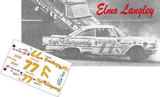 CD_2845 #77 Elmo Langley 1961 Cafe Burgundy Ford 1:64 Scale Decals   ~NEW~