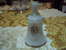 ANTIQUE BRISTLE ART GLASS VASE GOLD TRIM NO CHIPS 6 1/2'' TALL