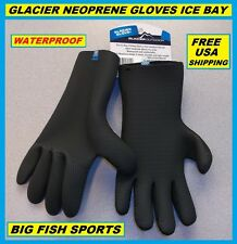 GLACIER GLOVE ICE BAY Neoprene Gloves Size EXTRA LARGE #813BK FREE USA SHIPPING