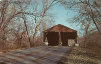 Nashville, IN Brown County Park State Park Covered Bridge Vintage 1960s Postcard