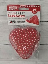 Welcome Home Brands Oven Safe Paper Bakeware Heart 12 count