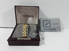 Vintage Women's Gold Toned Wittnauer Watch Model 5210400 Diamond Romance in box
