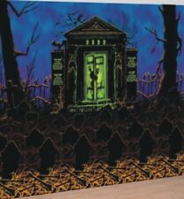 Spooky Crypt Halloween Scene Setter Room Roll Party Complete Decoration Kit