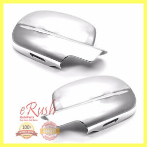 FOR 2007-2013 CHEVY SILVERADO CHROME SIDE MIRROR FULL COVER COVERS 2012 2011 NEW