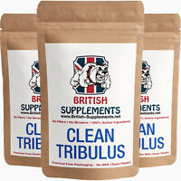 Tribulus Clean Genuine 11,480mg (1,033mg Saponins) Veg Caps British Supplements