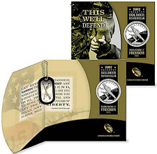2012-W $1 Infantry Soldier Proof Comm. Silver Dollar Defenders Of Freedom Sealed