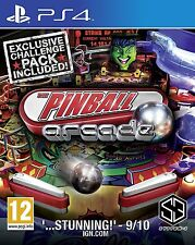 PS4 Pinball Arcade 1 FLIPPER GIOCO PLAYSTATION 4 NUOVO