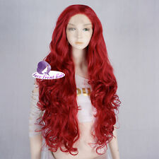 For Nightmare Before Christmas Sally 28'' Long Curly Red Women Lace Front Wig