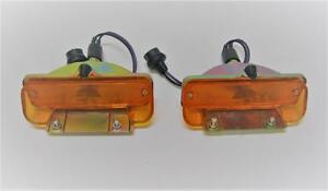 1965 65 Chevy Chevelle El Camino Amber Parking Lights Lamp Assembly LH RH