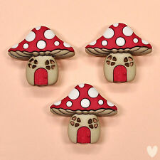 Dress it Up Buttons Mushroom Houses 9387 - Toadstools Fairies Fairy Gnomes