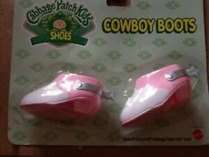 Cabbage Patch Kids Shoes CPK Dolls Pink & White Cowboy Boots