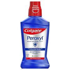 Colgate Peroxyl Mouth Sore Dental Hygiene Oral Rinse Mild Mint 500 ml 16.9 oz