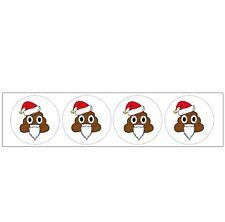 Emoji Santa Poo Themed Party Bag Stocking Fillers Boys Girls 48 Stickers