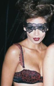 AGENT PROVOCATEUR SOIREE BRA COUTURE POSH HOT FLAMING RED LACE GUIPURE VERY RARE