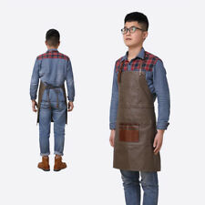 Waxed Canvas Apron with Pocket Painter Woodworking Artist Florist Work Aprons