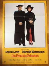 Frau des Priesters (Kinoplakat '70) - Sophia Loren / Marcello Mastroianni