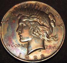 1922 PEACE DOLLAR ( BEAUTIFULLY TONED ) #18-100