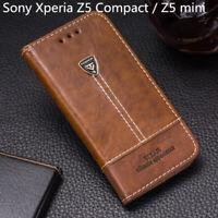 For Sony Xperia Z5 Compact / Z5 mini E5823 E5803 Flip Leather Wallet Case Cover