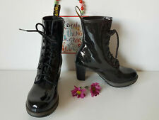 Dr Doc Martens Diva Darcie black patent heeled court boots UK 5 E 38 US 7