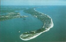 Old Vintage Aerial View Of Fort Myers Beach Florida Postcard