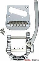 Bigsby B5 Fender Telecaster Tele Guitar Vibrato Tailpiece Kit w/ Bridge - CHROME