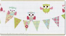 Bordüre Kinderzimmer PS Happy Kids 05586-20 Eule Eulen weiß grün rosa blau